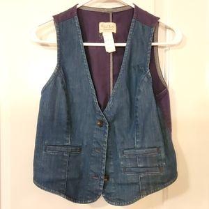 Levi's Denim Vest Women's Dark Blue